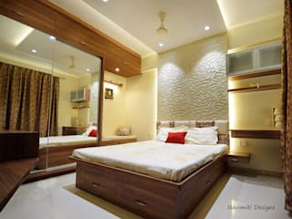 Site for Mr.Mudit Agarwal Navmiti Designs Modern style bedroom MDF Wood effect