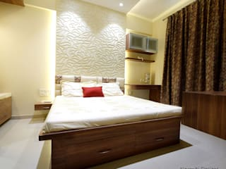 Site for Mr.Mudit Agarwal Navmiti Designs Modern style bedroom Wood Wood effect