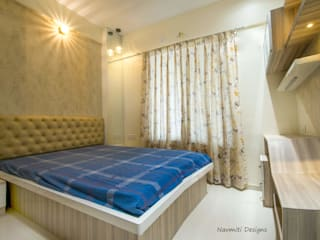 Site for Mr.Mudit Agarwal Navmiti Designs Modern style bedroom