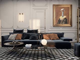 Apartment overlooking the Louvre: Гостиная в . Автор – Diff.Studio, Эклектичный