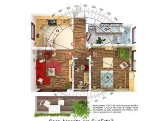 Exemplo casa frente Noroeste 315º:   por FENG SHUI PORTUGAL de Cláudia Machado de Castro