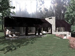 CASA NZR: Casas de estilo  por KOMMER ARQUITECTOS