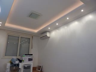 drywall Paredes e pisos ecléticos por gesplac construçoes a seco Eclético
