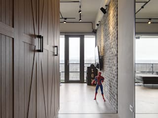 生活軌跡 工業風的玄關、走廊與階梯 根據 詩賦室內設計 工業風