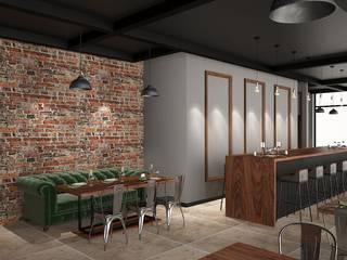 Cafe tasarım FA - Fehmi Akpınar İç Mimarlık Endüstriyel