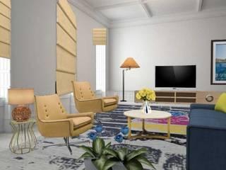 Apartamento com 2 quartos: Salas de estar  por Filomena Sobreiro - Decorações