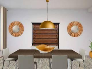 Apartamento com 2 quartos: Salas de jantar  por Filomena Sobreiro - Decorações