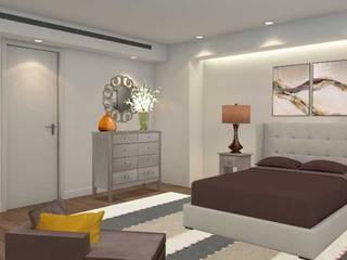 Apartamento com 2 quartos: Quartos  por Filomena Sobreiro - Decorações