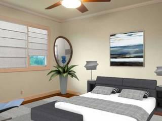Apartamento bem localizado: Quartos  por Filomena Sobreiro - Decorações