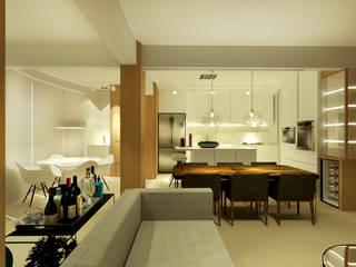 Apartamento Salas de jantar modernas por MQ Design Interiores Moderno