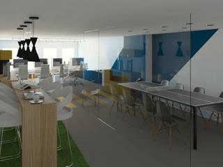 Vista interior oficinas: Estudios y oficinas de estilo moderno por eleganty