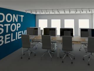 Vista pool de trabajo: Estudios y oficinas de estilo moderno por eleganty
