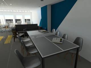 Vista sala de juntas: Estudios y oficinas de estilo moderno por eleganty