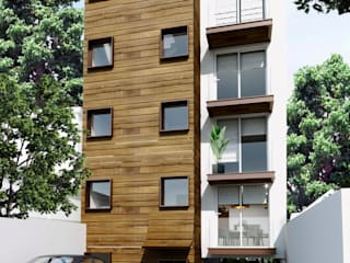 Render Departamentos 2018 Casas modernas de MIRARQPERSPECTIVAS Moderno