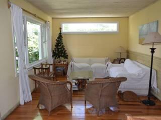 Casa en Victoria, San Fernando Salones rústicos rústicos de 2424 ARQUITECTURA Rústico
