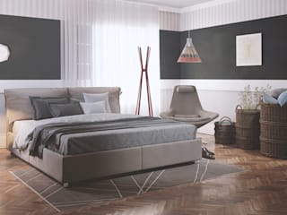 Modern Bedroom by render a Modern