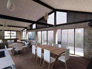 Casa Fin de semana en club nautico Puente Viejo Jal.: Terrazas de estilo  por Tola Arquitectos