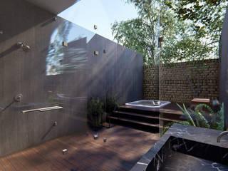 Casa Habitacion QL: Baños de estilo  por Tola Arquitectos
