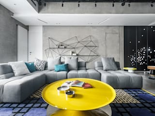 Eclectic style living room by 沈志忠聯合設計 Eclectic