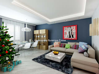 Eclectic style living room by Архитектурное Бюро 'Капитель' Eclectic