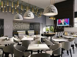 Best Cafe, Bar & Restaurant Interior Designs by Yantram Interior Design Firms - Vegas, USA Modern Yemek Odası Yantram Architectural Design Studio Modern