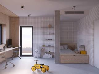 PROJEKT POKOJU DLA DZIECKA – DOM W JAWORZNIE: styl , w kategorii Pokój dziecięcy zaprojektowany przez Głogowscy Architektura + Wnętrza,