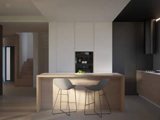 PROJEKT WNĘTRZ – DOM W JAWORZNIE: styl , w kategorii Kuchnia zaprojektowany przez Głogowscy Architektura + Wnętrza