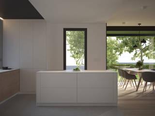 PROJEKT WNĘTRZ – DOM W JAWORZNIE: styl , w kategorii Kuchnia zaprojektowany przez Głogowscy Architektura + Wnętrza,