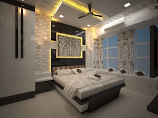 Contemporary interior project in kolkata Modern style bedroom by Estate Lookup Interiors Modern