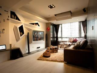 三峽-吳公館(混搭風):  客廳 by Mk-空間設計