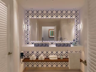 MODEL UNIT FOR THE SHERATON GRAND LOS CABOS Baños modernos de Progressive Design Firm Moderno