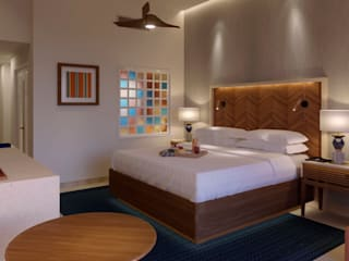 MODEL UNIT FOR THE SHERATON GRAND LOS CABOS Dormitorios modernos de Progressive Design Firm Moderno