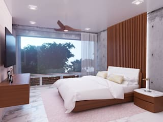 HOUSE 410 Dormitorios modernos de Progressive Design Firm Moderno