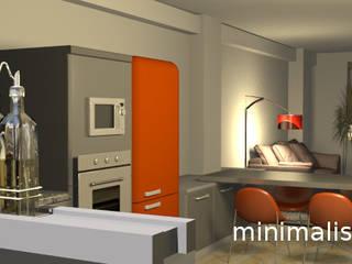 Minimalistika.com Cuisine intégrée Panneau d'aggloméré Gris