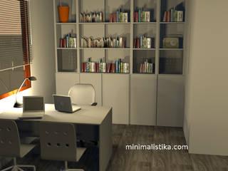 Minimalistika.com Jardin d'hiver minimaliste Panneau d'aggloméré Gris