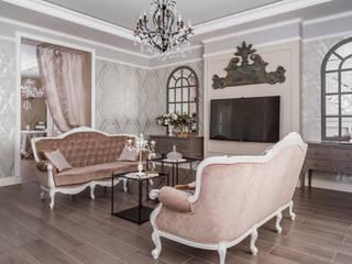 Salones de estilo clásico de 'Студия дизайна Марины Кутеповой' Clásico