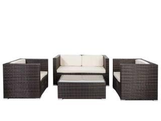 Divano da esterno set da giardino 4 posti con tavolino di DEGHI Eclettico