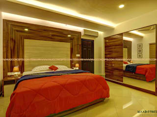 Apartment Interior at Sobha City:  Bedroom by MAAD Concepts