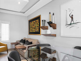 Contemporary Residential Family Home Deborah Garth Interior Design International (Pty)Ltd Study/office Solid Wood Yellow