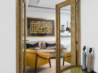 Contemporary Residential Family Home Deborah Garth Interior Design International (Pty)Ltd Study/office Wood Yellow