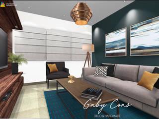 Estancia familiar Cumbres: Salas de estilo ecléctico por Gaby Cons Deco & Handmade