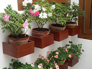 Rustic style garden by Quetzal Jardines Rustic