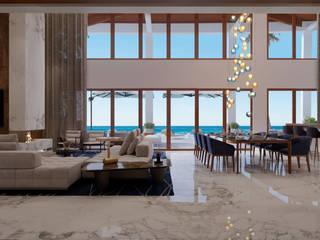 Villas Del Mar, Palmilla Salones modernos de Progressive Design Firm Moderno