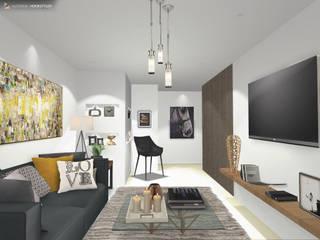 Estancia Familiar Sierra Alta: Salas de estilo moderno por Gaby Cons Deco & Handmade