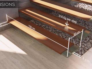 AuroKripa Residence:  Living room by ArchEl Studio: architects & designers