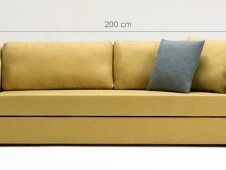 Pandora Yataklı Üçlü Kanepe Sarı K105 Mobilya Pazarlama Danışmanlık San.İç ve Dış Tic.LTD.ŞTİ. Oturma OdasıKanepe & Koltuklar Ahşap Sarı