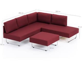 K105 Mobilya Pazarlama Danışmanlık San.İç ve Dış Tic.LTD.ŞTİ. Salas/RecibidoresSofás y sillones Madera Rojo