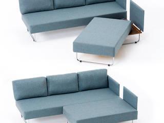 Newport Raylı Köşe Koltuk Mavi K105 Mobilya Pazarlama Danışmanlık San.İç ve Dış Tic.LTD.ŞTİ. Oturma OdasıKanepe & Koltuklar Ahşap Mavi