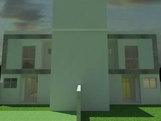 Residencial Multifamiliar 2 Unidades: Casas  por MVK Arquitetura, Engenharia e Construções