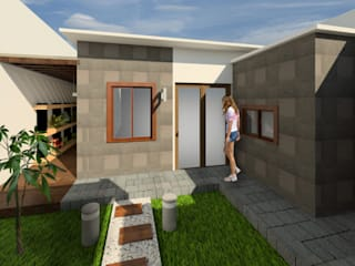 Modern garden by Proyecta77 Modern